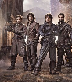 BBC The Musketeers. The end of the third series. It's the leathers that do it! A happy ending for all, we can but hope that means there could be a chance in the future of another series please.