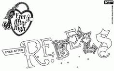 Free Rebels Logo The Of School Ever After High Coloring And Printable Page