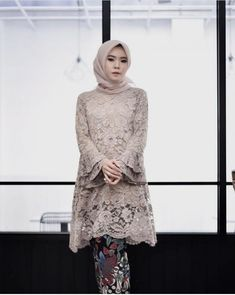 @kaureenhfiy Kebaya Modern Hijab, Kebaya Hijab, Kebaya Muslim, Muslim Dress, Model Kebaya Brokat Modern, Kebaya Lace, Kebaya Dress, Hijab Dress Party, Hijab Style Dress