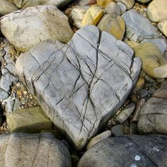 Cracked rock is awesome heart found in Nature....love this!!