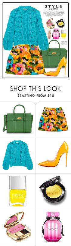 """""""bright!"""" by feerubal ❤ liked on Polyvore featuring Mulberry, Nanette Lepore, Ganni, Christian Louboutin, Nails Inc., Dolce&Gabbana, Victoria's Secret, Elizabeth Arden and colorful"""