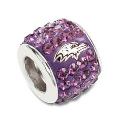 Baltimore Ravens Premier Bead Charm $89.99 http://www.fansedge.com/Baltimore-Ravens-Premier-Bead-Charm-_-1396660032_PD.html?social=pinterest_pfid55-00908 - I WANT THIS