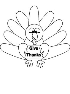 Happy Thanksgiving Turkey Coloring Page happythanksgivingturkey