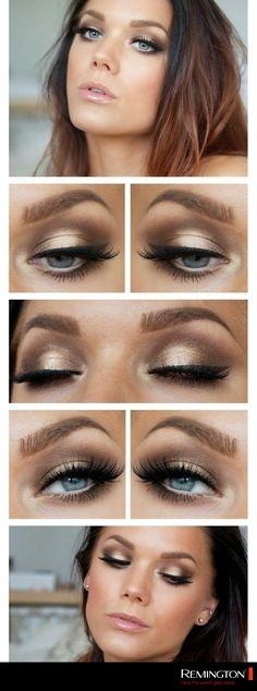 Un maquillaje en tonos bronce permitirá que rostro luzca brillante y sano. #makeup #bronzer #DIY #eyes