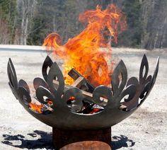 Fleur de Lis Firebowl by John T Unger