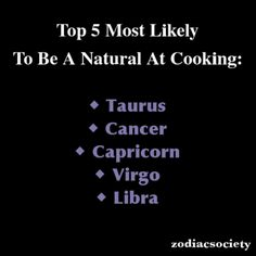 Zodiac signs: Top 5 Most Likely To Be a Natural at Cooking: