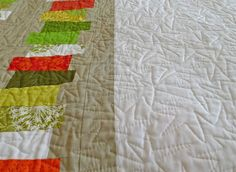 Tips for free-hand quilting larger quilts on a regular machine.