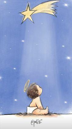 Que el Señor nos conceda una noche tranquila... Religious Images, Religious Art, Angel Illustration, Religion, Jesus Art, Jesus Pictures, Catholic Art, Christmas Paintings, Baby Jesus