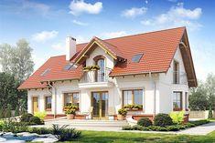 Zdjęcie projektu Dom Dla Ciebie 1 z garażem 1-st. [A] WRF1706 Modern Farmhouse Exterior, Modern Farmhouse Style, Farmhouse Design, One Storey House, 2 Storey House Design, Exterior House Colors, Exterior Design, Architect Design House, Cottage Style Homes