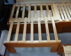 DIY RV Sofa Bed. use in dinette, won't affect under bench storage. extra sleep space. use with fold down table