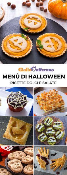 Menu Halloween - Le ricette di GialloZafferano. Buon CiboDolcetti HalloweenBuon  HalloweenFesta Di HalloweenBiscottiAntipastoLasagneZuccheGastronomia c915ad31363f