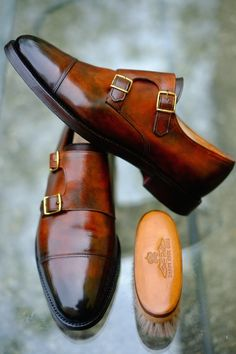 - wow this color! So much passion! -  John Lobb by Alexander Nurulaeff