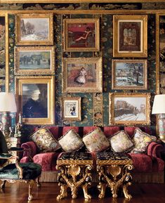 Ann and Gordon Getty's living room in San Francisco's Pacific Heights. Photo by Lisa Romerein