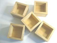 Japanese Wood Sake Cups  Set of 5  Repurpose by VIVALASVINTAGE, $8.00
