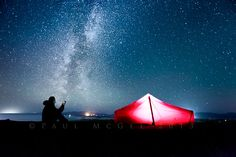 Starlight Camping by Paul McGee on 500px............ thk::::::::::::::::Camping Under the Milky way in Argyll, Scotland