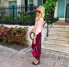 A Spoonful of Style: Blush and Bordeaux