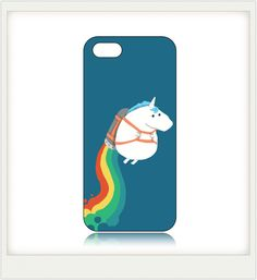 I LOVE this Fat Unicorn On Rainbow Pattern Case for iPhone5/5S BTG and I'm not even a huge Coach type of girl