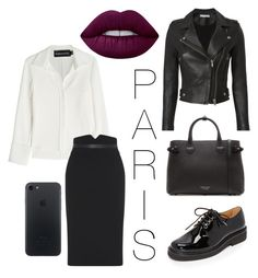 """Paris 🌂"" by yanamur on Polyvore featuring мода, IRO, Brandon Maxwell, A.P.C., Burberry и Lime Crime"