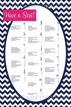 Cute wedding seating chart! I like the idea of not having escort cards at each place setting!!