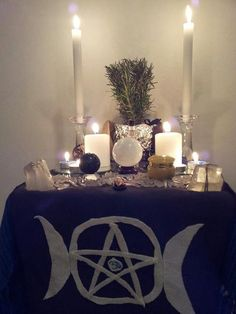 My Altar a few weeks ago.  It's a bit different now but pretty much the same.