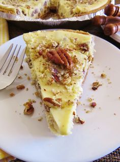 Butter pecan rocks! One of my absolute favorite ice cream flavors turned into the most amazing (and simple!) cheesecake. Everyone loves it!