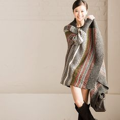 Vintage Causel Loose Shawl Coat Sweater Women Clothes