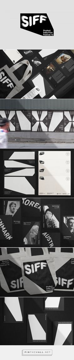 Student Indie Film Festival by Jaeho Shin — The Brand Identity - created via https://pinthemall.net