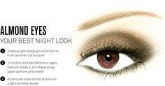 Almond Eye makeup placement NIGHT LOOK