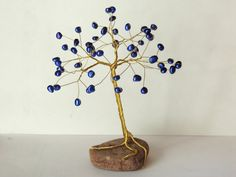 Wire Tree Sculpture, Wire Trees, Handmade Wire, June Birth Stone, Gold Wire, Tree Of Life, Wire Jewelry, Fresh Water, Birthstones