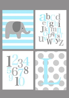 elephant nursery-wall decor for Blake