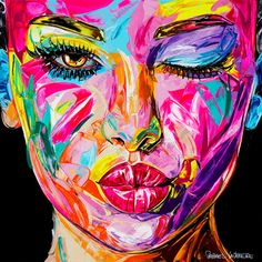 Abstract Portrait Painting, Abstract Face Art, Art Painting Gallery, Portrait Art, Portraits, Pop Art Face, Tableau Pop Art, Pop Art Wallpaper, Art Inspo