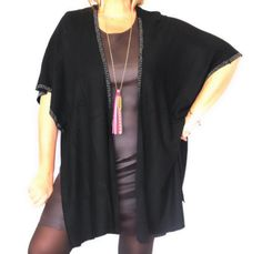 gilet forme poncho grande taille soo by Sophie www.soobysophie.com