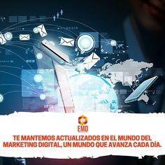 Mantente actualizado con nosotros, somos expertos en Marketing Digital. #EMD #MarketingDigital #Servicios