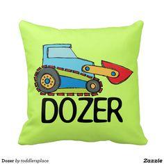 Dozer Throw Pillow