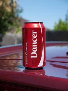Dancer Coca-Cola Can. #Dancer ❤️>>>Dancers shouldn't even be drinking coke More