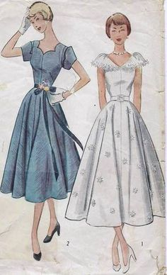 50s 60s Simplicity Afternoon Ballerina Dress Pattern 3410 B29/11  $23.85