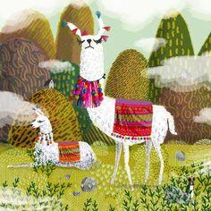 Oh my god these Llamas by Jane Newland! Alpacas, Art And Illustration, Medical Illustration, Camelus, Llama Arts, Art Portfolio, Painting Inspiration, New Art, Art For Kids