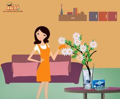 To keep your flowers fresh for a longer time, put a tablet of disprin in the vase water and let the magic work! #Aaloology