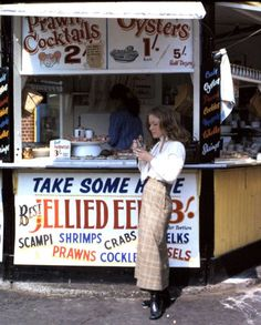 "Take Some Here ""Best Jellied Eels"" ( The English seaside in the late 1960s )"