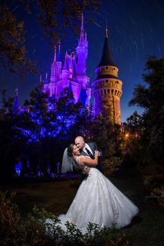 When you wish upon a star...your wedding dreams can come true! Amazing early morning sky at the Magic Kingdom. Photo: Ali, Disney Fine Art Photography
