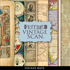 New Freebies Vintage Maps