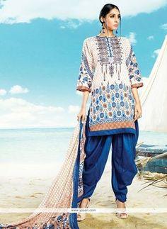 Distinctively Cotton Satin Print Work Punjabi Suit Model: YOS7888