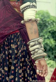 I love these textured, earthy bracelets and the tattoos peaking from underneath