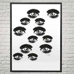 Eyes: 24X26 Framed Archival Poster – Samantha Hahn