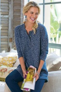 Comfy Terry Pullover from Soft Surroundings