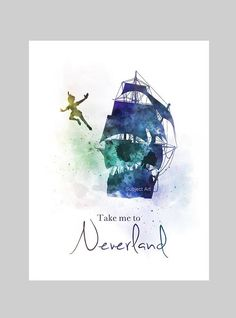Peter pan quote art print neverland jolly roger nursery gift wall art home decor you just think lovely wonderful thoughts peter pan print Peter Pan Kunst, Peter Pan Art, Peter Pan Drawing, Disney Princess Quotes, Disney Movie Quotes, Disney Songs, Art Prints Quotes, Art Quotes, Quote Art