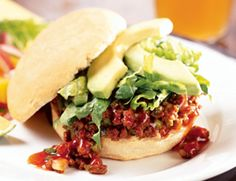 Vegan Spicy Sloppy Joes: Ale adds a subtle richness to this updated version of the classic chili hash. Mound the Sloppy Joe filling on soft sandwich rolls (try our Wheat Beer and Potato Rolls) and top with sliced avocados and shredded lettuce. This recipe easily doubles for a party.  Spicy Sloppy Joes, 3.0 out of 4 based on 1 rating