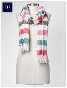 Cozy bold stripe scarf