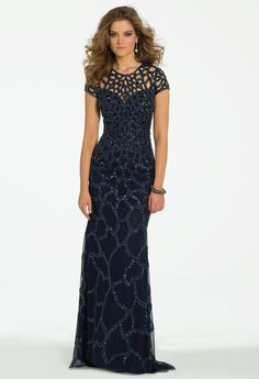 Love love love this dress! Beaded Lattice Dress with Shawl from Camille La Vie and Group USA