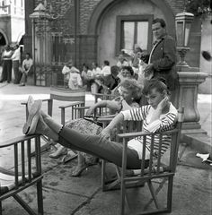 Audrey Hepburn on the set of War and Peace (1955)